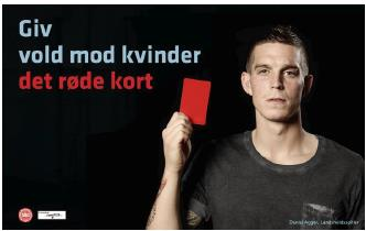 Give violence against women the red card - Campaign image