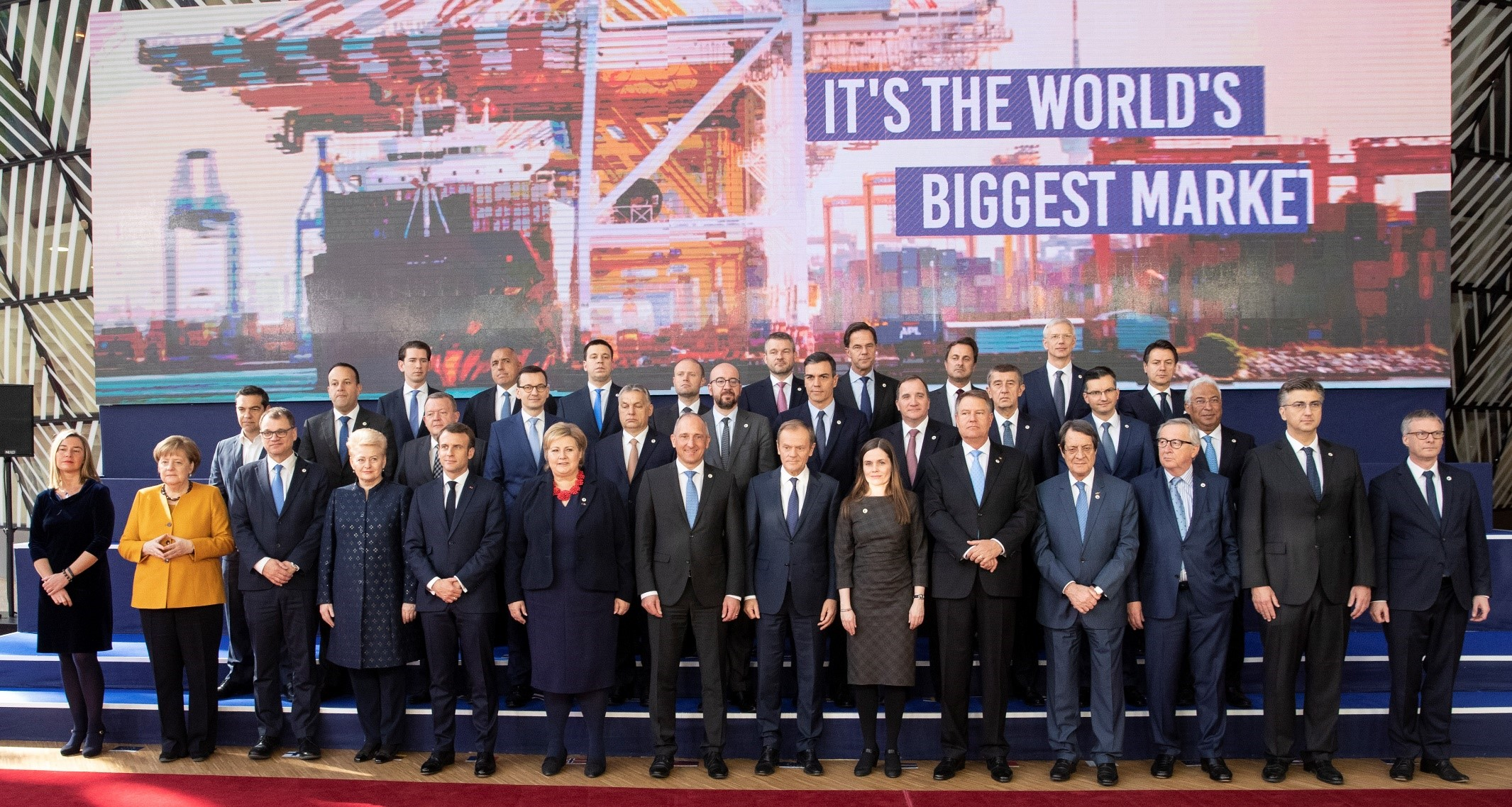 The European Council's members picture