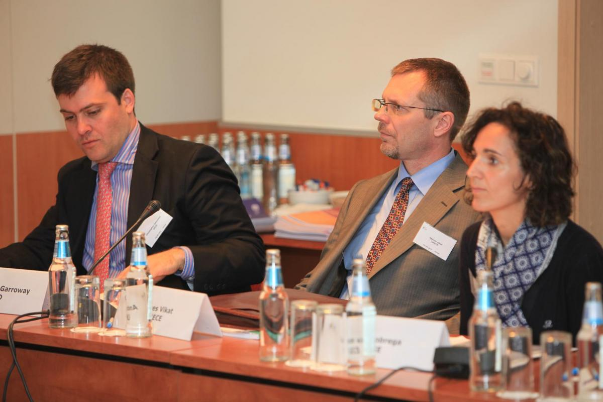 Christopher Garroway (OECD), Andres Vikat (UNECE) and Ligia Nobrega (EIGE)