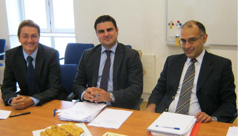 left to right: Mr. Cyrille Maurin (FRA), MR. Michail Beis (FRA), Mr. Niraj Nathwani (FRA)