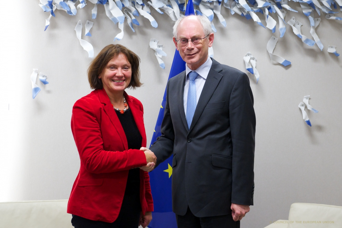 Virginija Langbakk and Herman Van Rompuy.jpg
