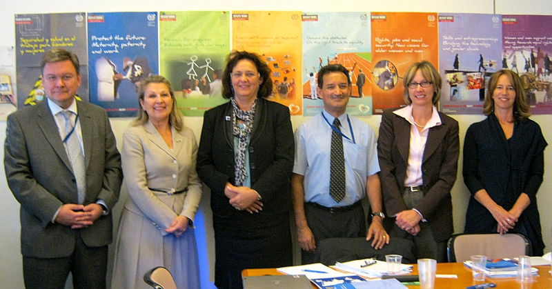 Head of Operations Barbara Wurster with ILO Officials
