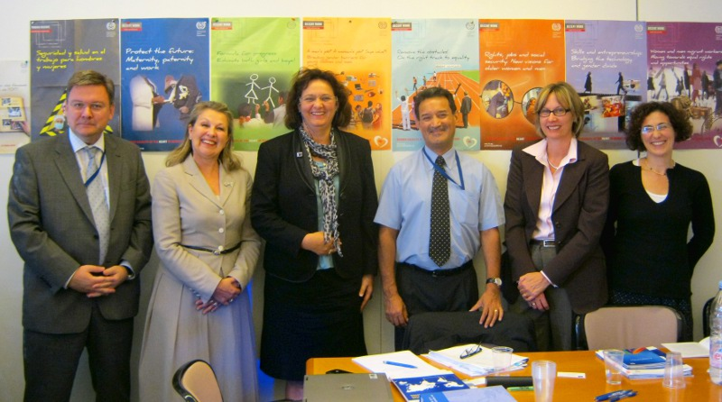Head of Operations Barbara Wurster with ILO Directors