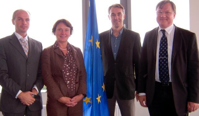 Director Virginija Langbakk welcomes the Members of Seimas