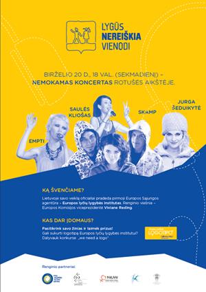 Europos lyčių lygybės institutas veiklą pradės renginiais Vilniuje
