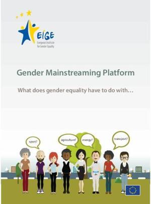 Gender mainstreaming platform – leaflet