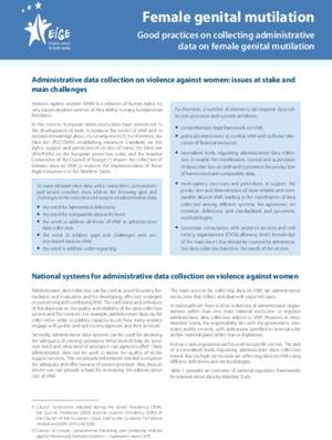 Good practices on collecting administrative data on female genital mutilation