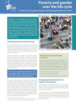 Poverty and gender over the life cycle: Review of the implementation of the Beijing Platform for Action