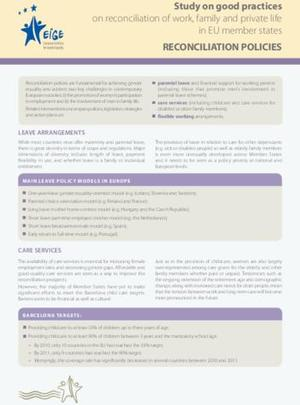 Factsheet - Reconciliation policies