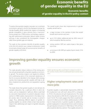 Economic benefits of gender equality in the EU: Economic benefits of gender equality in the EU policy context