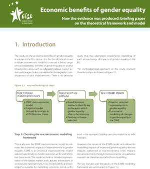 Economic benefits of gender equality How the evidence was produced: briefing paper on the theoretical framework and model