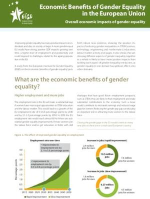Economic Benefits of Gender Equality in the European Union: Overall economic impacts of gender equality