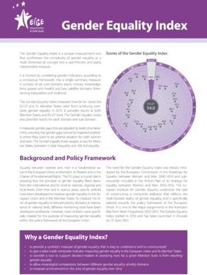 Gender Equality Index - Leaflet (English)