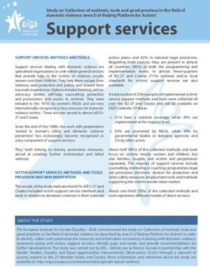EIGE GOOD PRACTICES SUPPORT SERVICES Domestic Violence