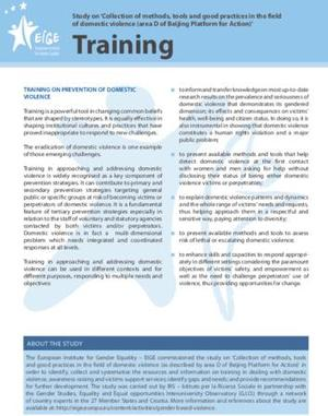 EIGE GOOD PRACTICES TRAINING Domestic Violence