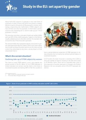 Study in the EU: Set apart by gender