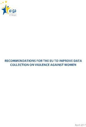 Recommendations for the EU to improve data collection on violence against women