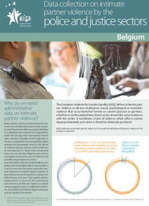 Data collection on intimate partner violence by the police and justice sectors: Belgium