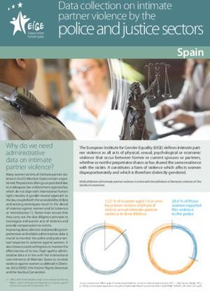 Data collection on intimate partner violence by the police and justice sectors: Spain