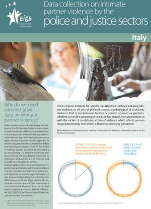 Data collection on intimate partner violence by the police and justice sectors: Italy