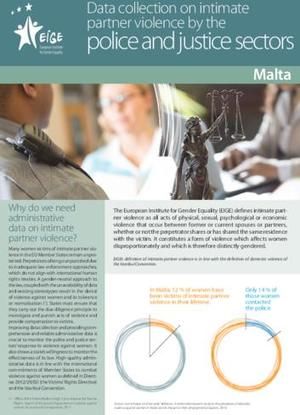 Data collection on intimate partner violence by the police and justice sectors: Malta