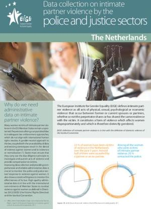 Data collection on intimate partner violence by the police and justice sectors: Netherlands