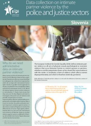 Data collection on intimate partner violence by the police and justice sectors: Slovenia