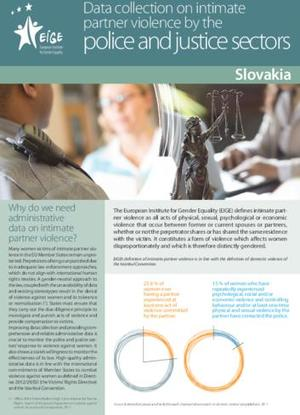 Data collection on intimate partner violence by the police and justice sectors: Slovakia