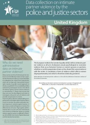 Data collection on intimate partner violence by the police and justice sectors: United Kingdom