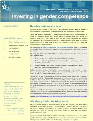 Investing in gender competence