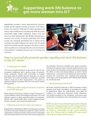 Supporting work life balance to get more women into ICT
