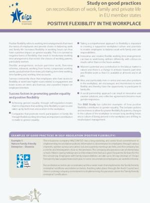 Factsheet - Positive flexibility in the workplace