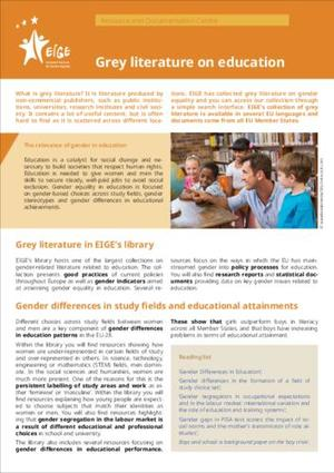 Grey literature on education