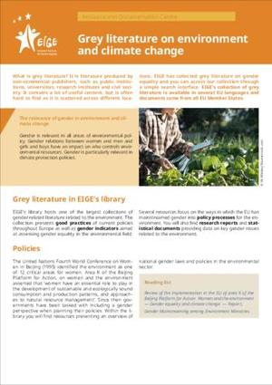 Grey literature on environment and climate change