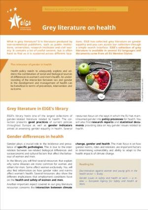 Grey literature on health