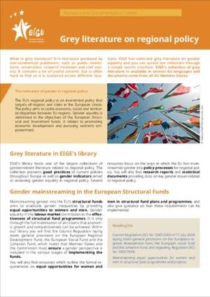 Grey literature on regional policy