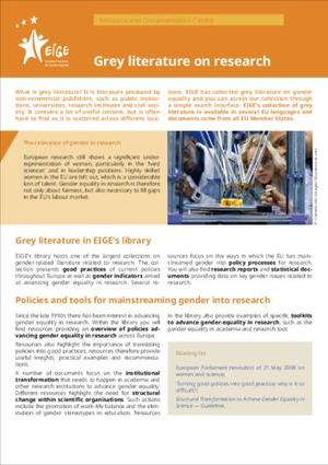 Grey literature on research