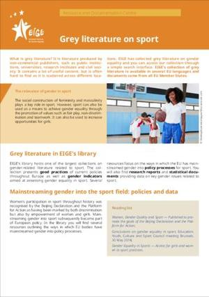 Grey literature on sport