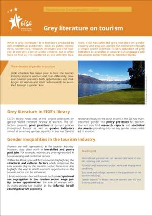 Grey literature on tourism