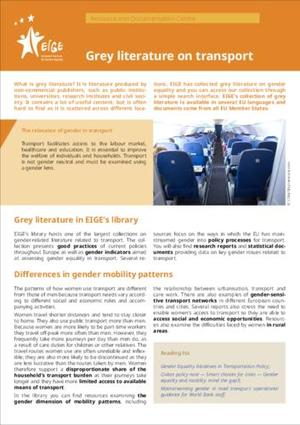 Grey literature on transport
