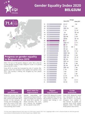 Gender Equality Index 2020: Belgium