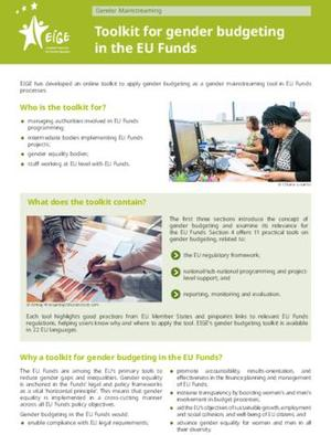 Toolkit for gender budgeting in the EU Funds