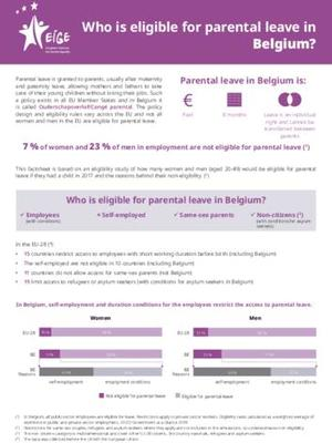 Who is eligible for parental leave in Belgium?
