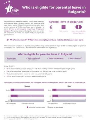 Who is eligible for parental leave in Bulgaria?