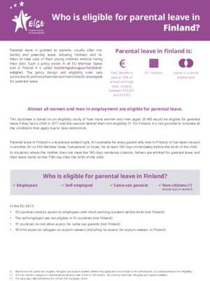 Who is eligible for parental leave in Finland?