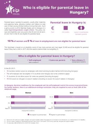 Who is eligible for parental leave in Hungary?