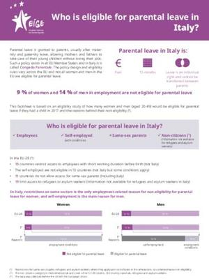 Who is eligible for parental leave in Italy?