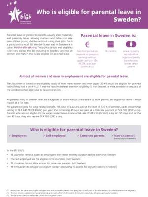 Who is eligible for parental leave in Sweden?
