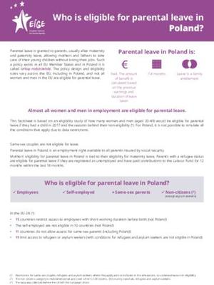 Who is eligible for parental leave in Poland?
