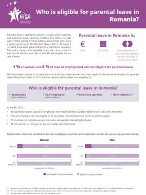 Who is eligible for parental leave in Romania?